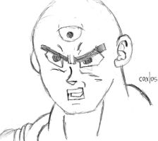 Drawing 002 | Tien Shinhan by CAR-TACO