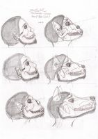 were-skull face transformation by bielzebub