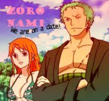 Zoro Nami Date Stamp by BelleLoveZoro