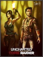 Uncharted X Tomb Raider by drake---666