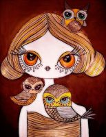 Mildred and the owls by dragonfly2736