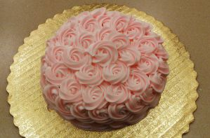 Pink Rose Cake by ayarel