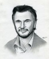 Liam Neeson by RobtheDoodler