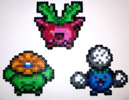 Hama Hoppip Skiploom Jumpluff by Kelzky