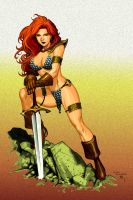 Cheung - Red Sonja c by TMD by DONAHUE-t