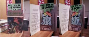 Rainbow Dash SO AWESOME bookmark by AngeOMGWTFBBQ