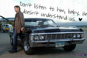 Supernatural - Dean and Impala by BaDBuNnYyY