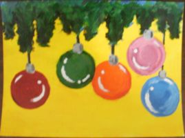 Christmas Ornaments by FoxiArtist