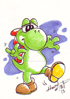 Yoshi SketchCard by SoVeryUnofficial
