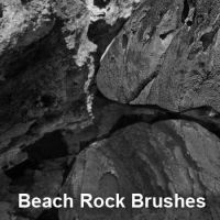 Beach Rock Brushes by remygraphics