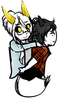 The most awkward piggyback ever by ninelivestwice