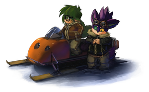 Two fatties and a snowmobile by Duiker