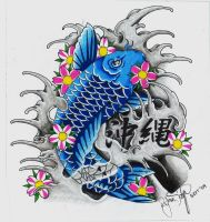 Blue Koi by ryanschipper89