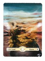 MTG Card Alter - Basic Land, Plains by InVenatrix