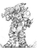 RIFTS NG Lynx Commando Power Armor by ChuckWalton