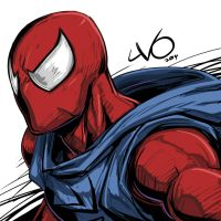 Digital Sketch Warm up 28 - Scarlet Spider by Vostalgic
