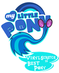 Fanart - MLP. My Little Pony Logo - Vinyl Scratch by jamescorck