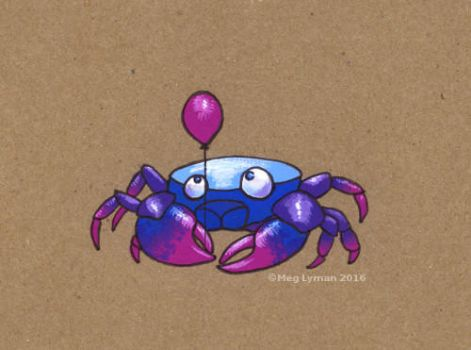 Crab balloon by MegLyman
