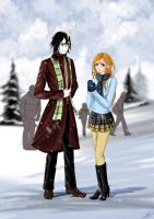 Orihime and Ulquiorra by Maggy-P