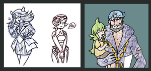Pokemon Tumblr Requests 45 and 46 by roseannepage