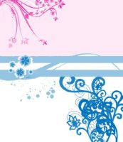 Pink and blue flowery things by Lovegreen13