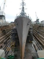USS Cassin Young in Drydock by Zoxesyr