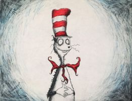 A Burtonesque Cat in the Hat. by Kongzilla2010