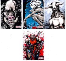 Unstoppable Cards Fantasy sketch cards page 5 by dsilvabarred