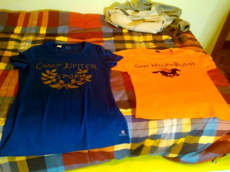 Camp Half-Blood and Camp Jupiter T-shirts by Esther24