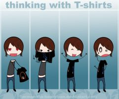 Portal- thinking with T-shirts by herman-the-handyman