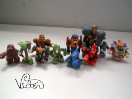 Rockman villains by VictorCustomizer