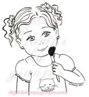 little girl digital stamp by gianjos