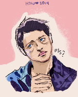 Cas \ Misha Collins by Hi-Ku