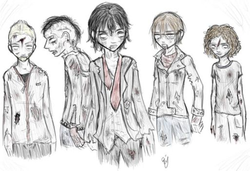 MCR zombies - now in color. :O by aishie-chan