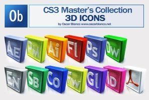 CS3 MASTER'S COLLECTION ICONS by otas32