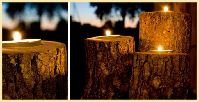 Wooden candle holders by erezija