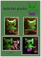 Hulk-cat plushie by caycowa