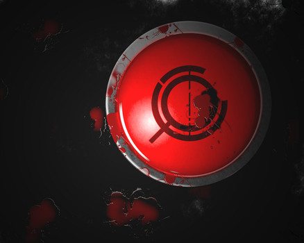 bloody button by Storm016