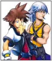 Riku Shoves it.... Shounen Ai by dabean