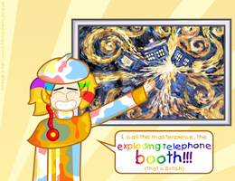 Exploding Telephone Booth by MU-Cheer-Girl