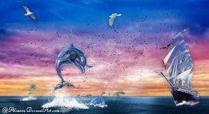 Dance with dolphin by Alimera