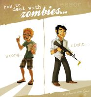 how to deal with zombies by starsandpolkadots