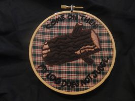 Log Lady - Embroidery Piece by Nikai-Nocturne