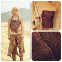 Dothraki Dany 1st stage of top by lousciousfoxx