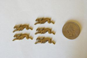 5 Running Rabbit Charms by foowahu-etsy
