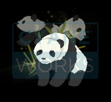 Pandas commission for Elusive Creation by Cyane-ei