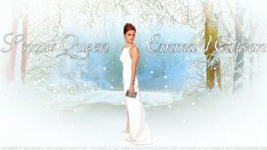 Emma Watson Snow Queen IV by Dave-Daring