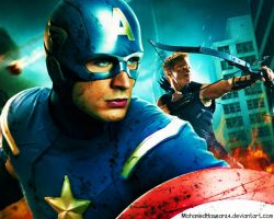 The Avengers - Hawkeye and Captain America by MohamedHassan14