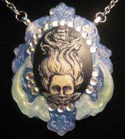 Calypso lady of the sea ghost resin cameo by slinkskull