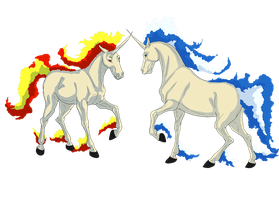 Rapidash Vs Shiny Rapidash by samuRAI-same